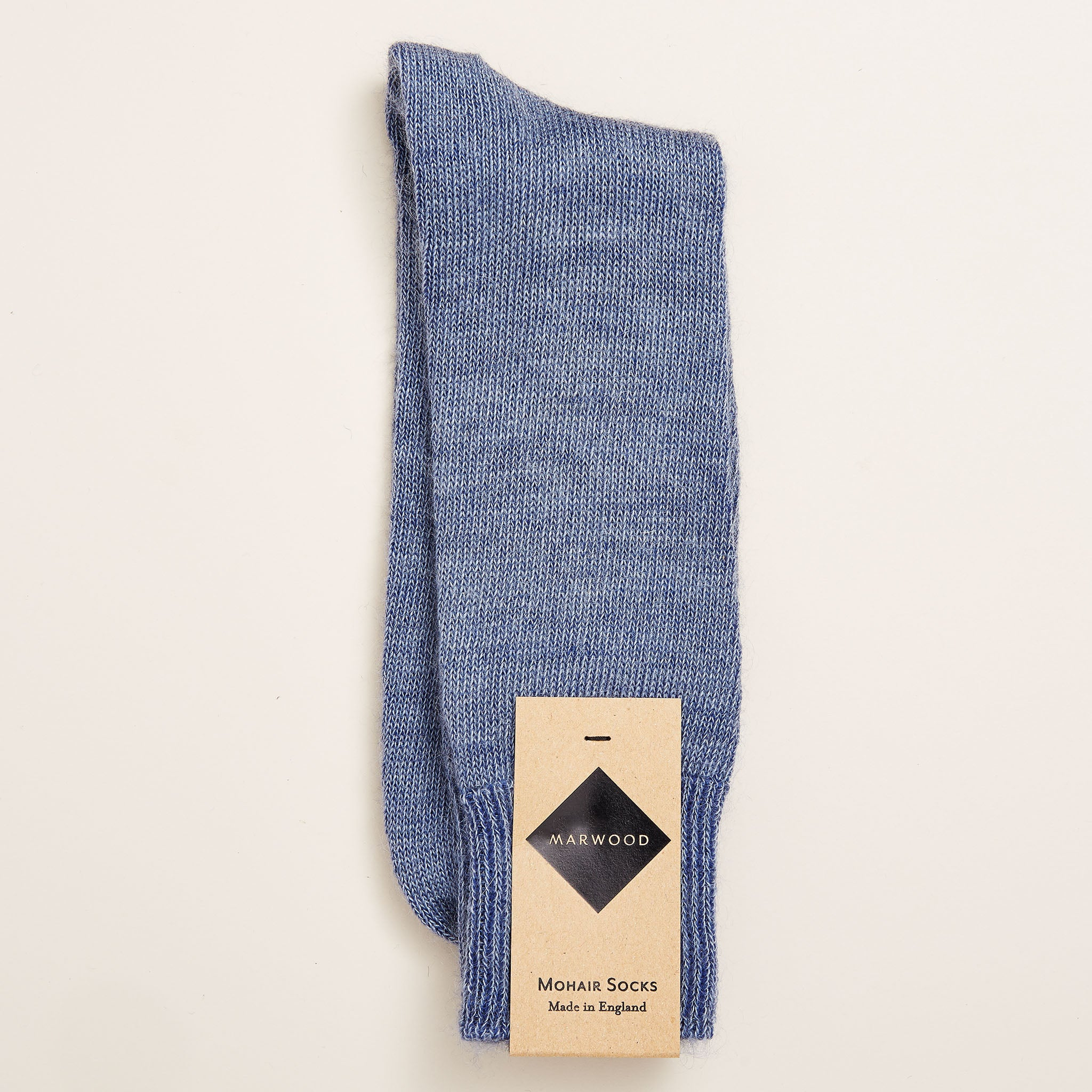 Plain Knit Mohair Socks