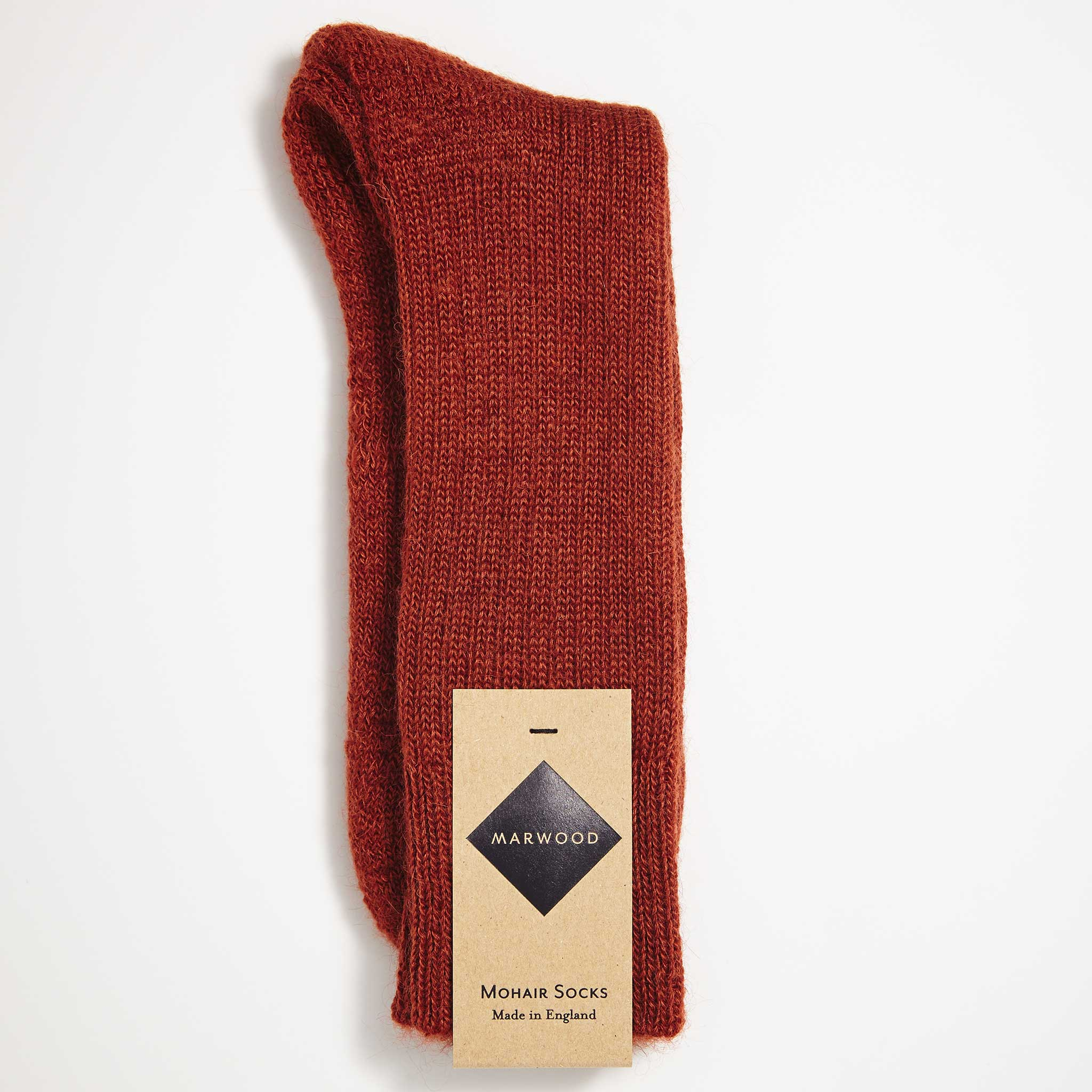 Rust Heavy Knit Mohair Socks