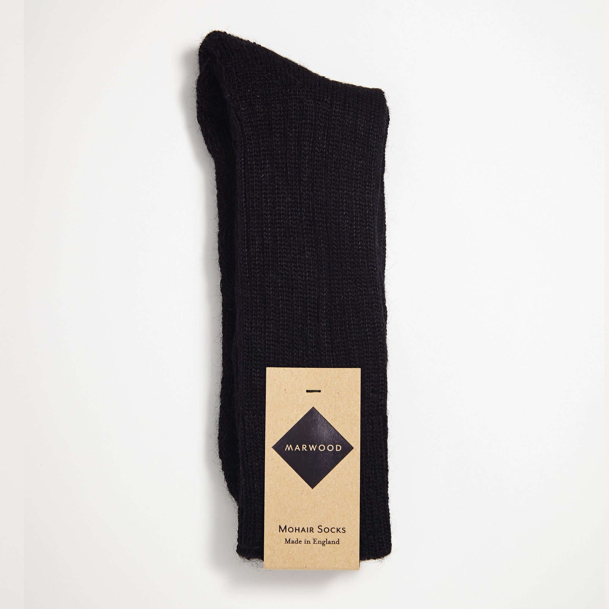 Black Heavy Knit Mohair Socks