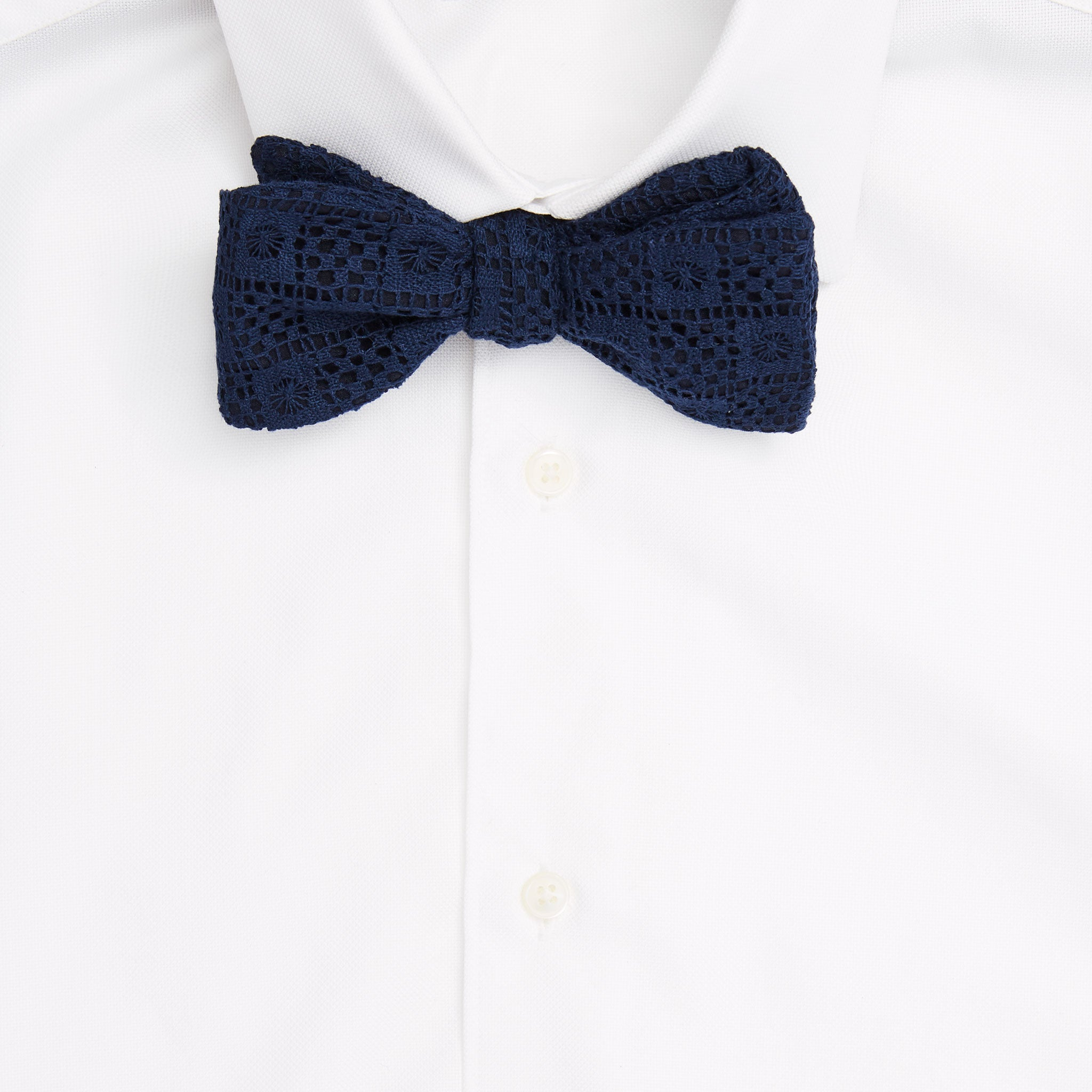 Square Knot Lace Self-Tie Bow Tie
