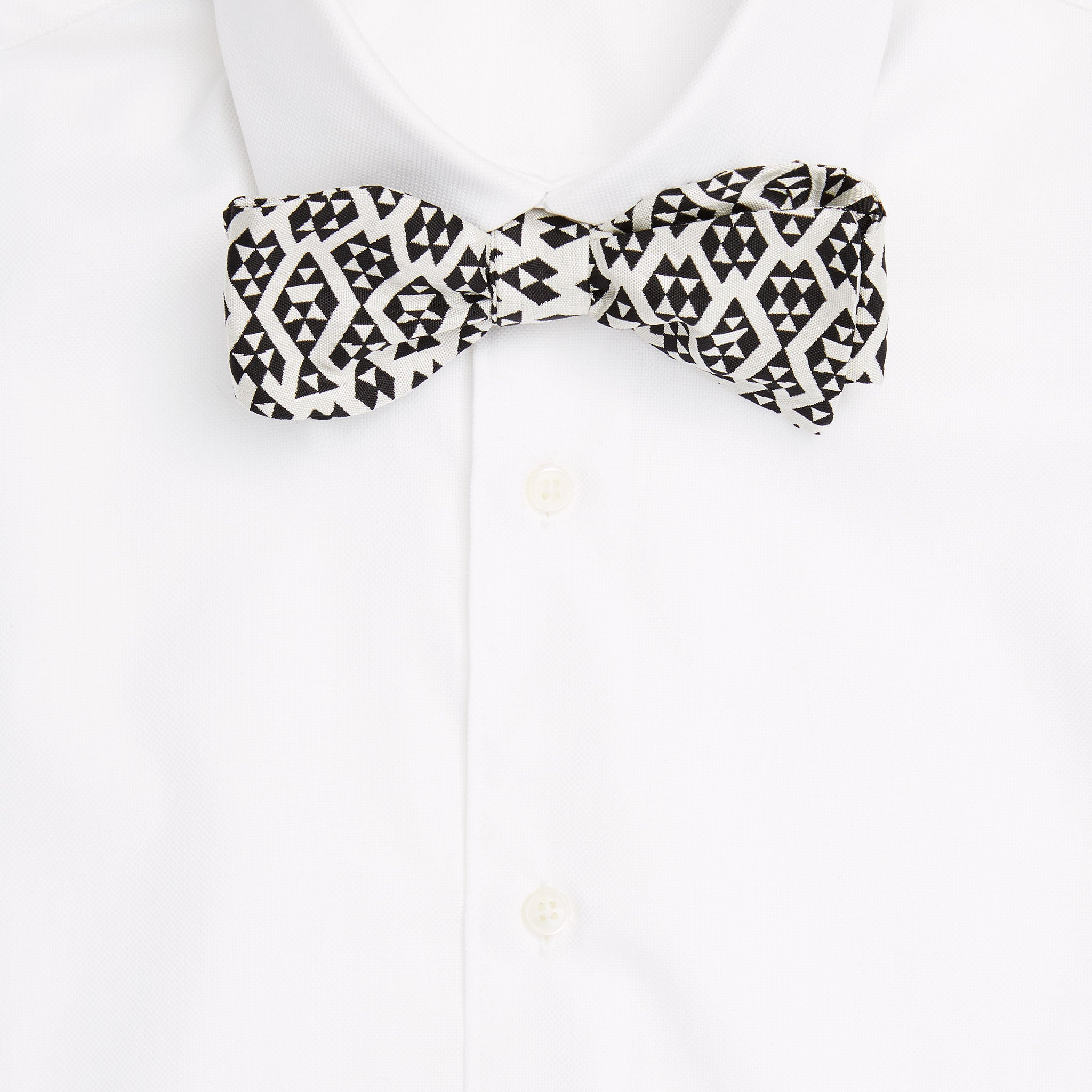 Harlequin Silk Jacquard Self-Tie Bow Tie