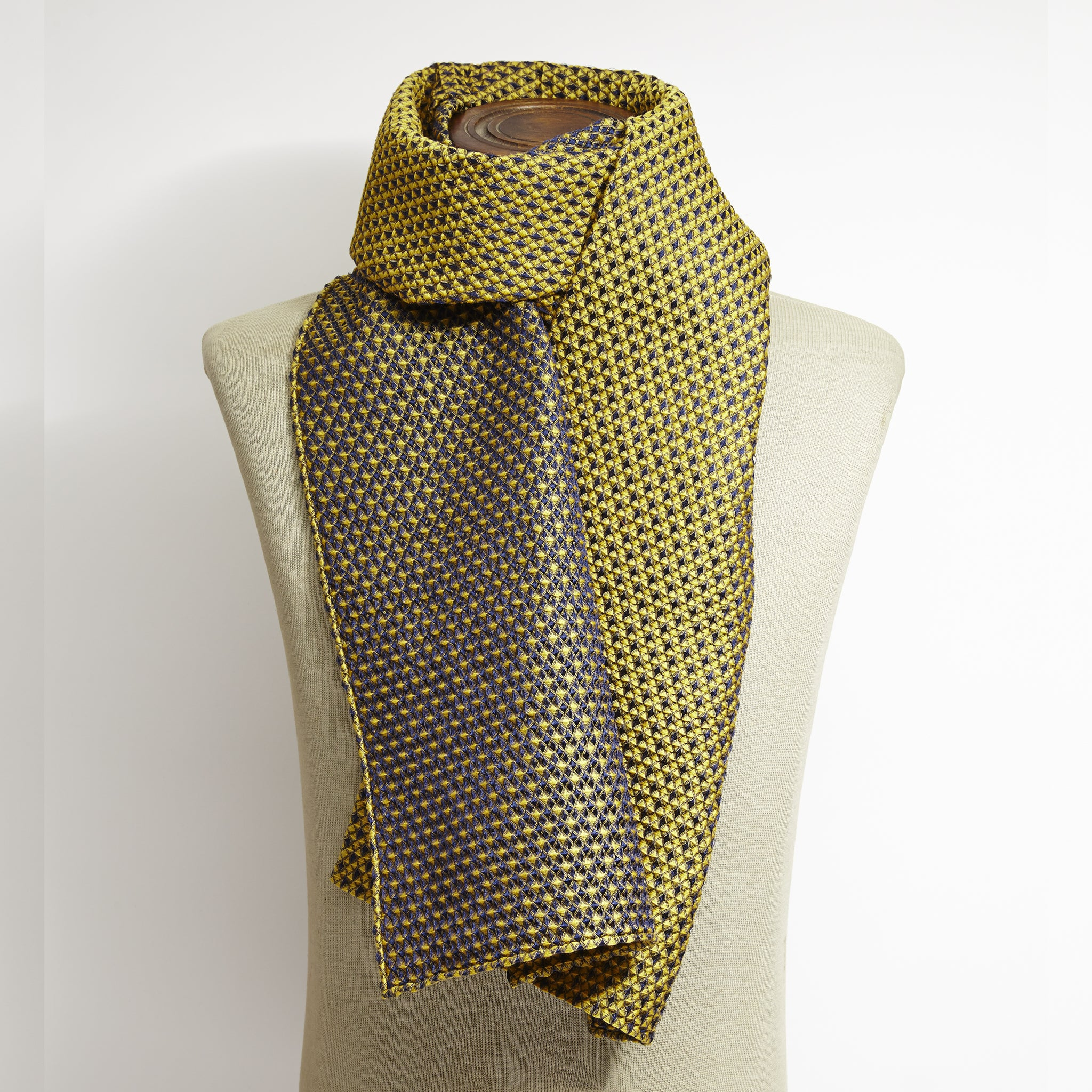 Yellow 3D Weave Scarf