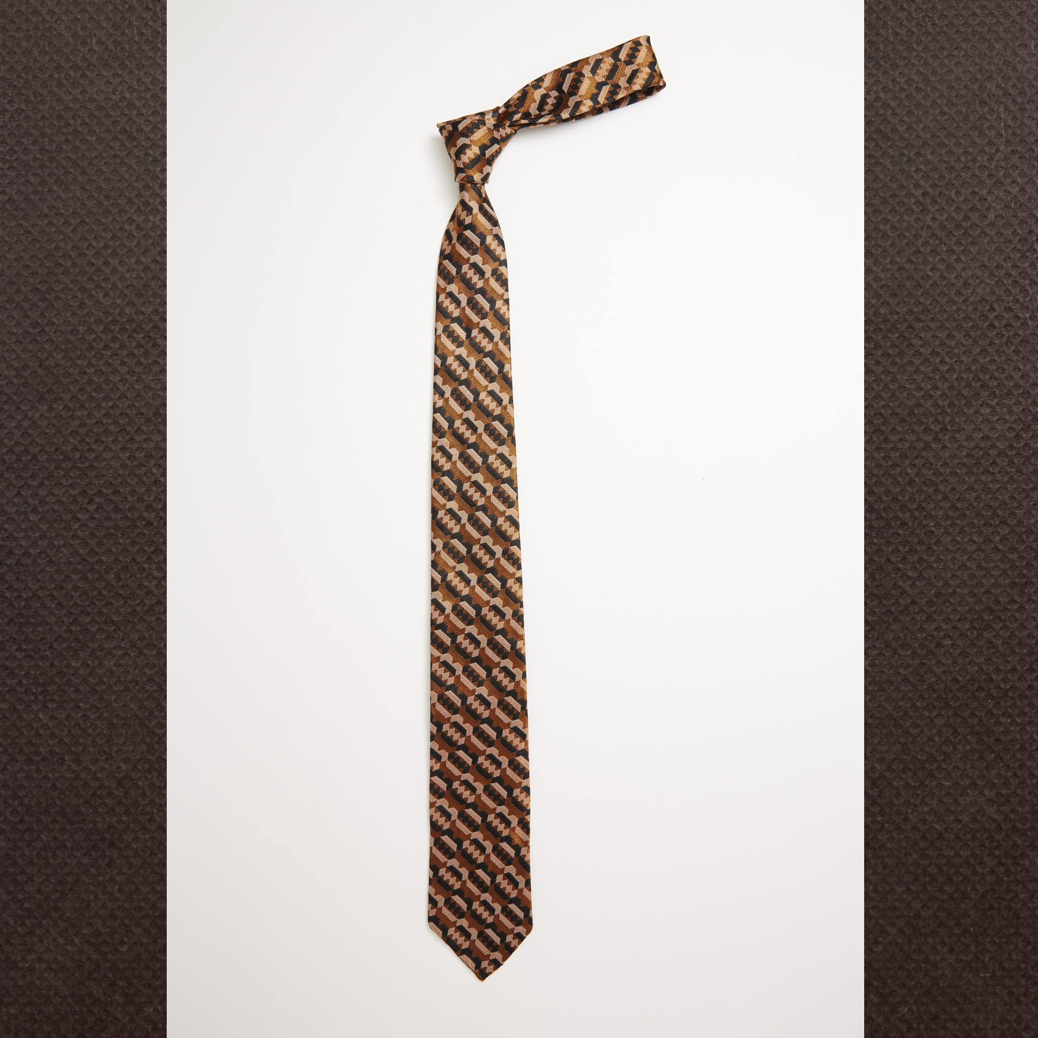 Copper Ink Drawn Tie