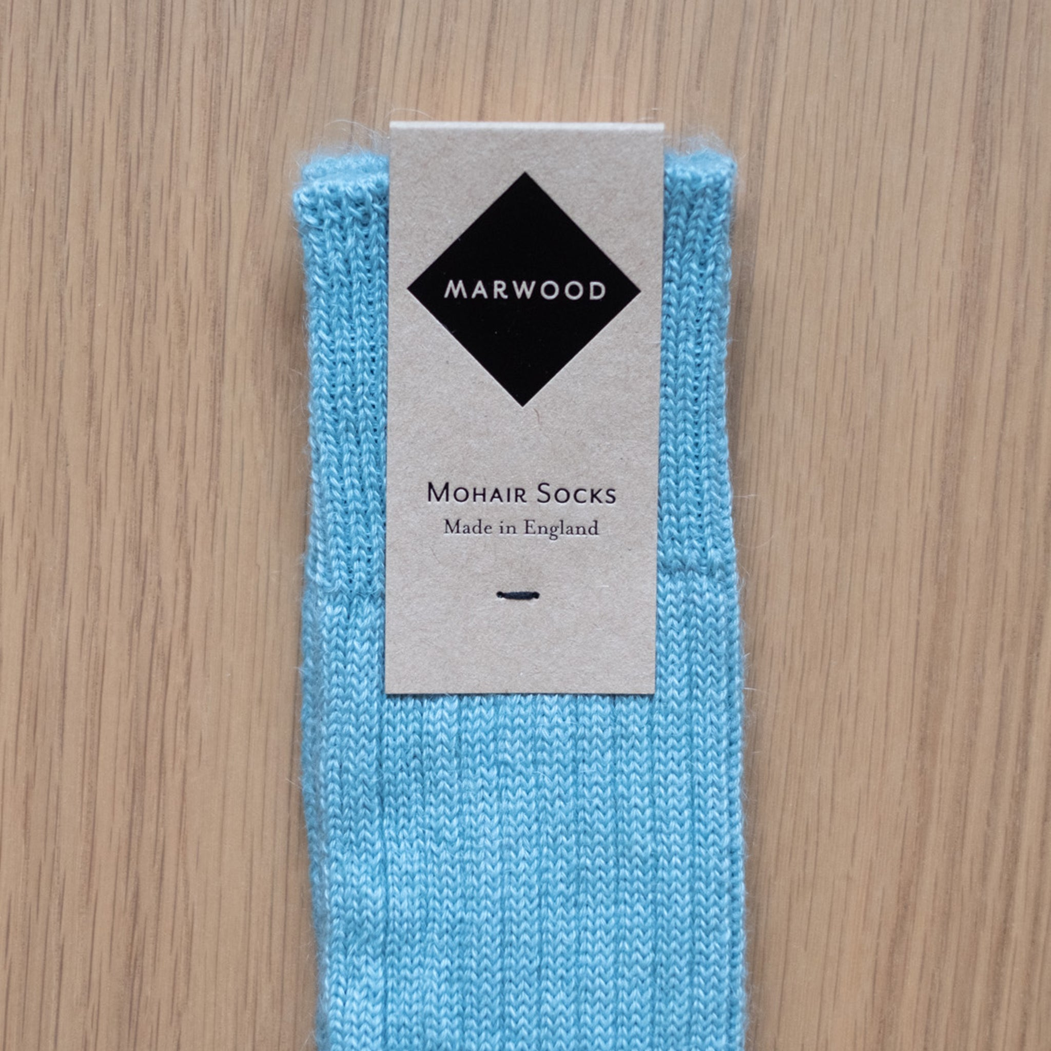 Light Blue Knit Mohair Socks