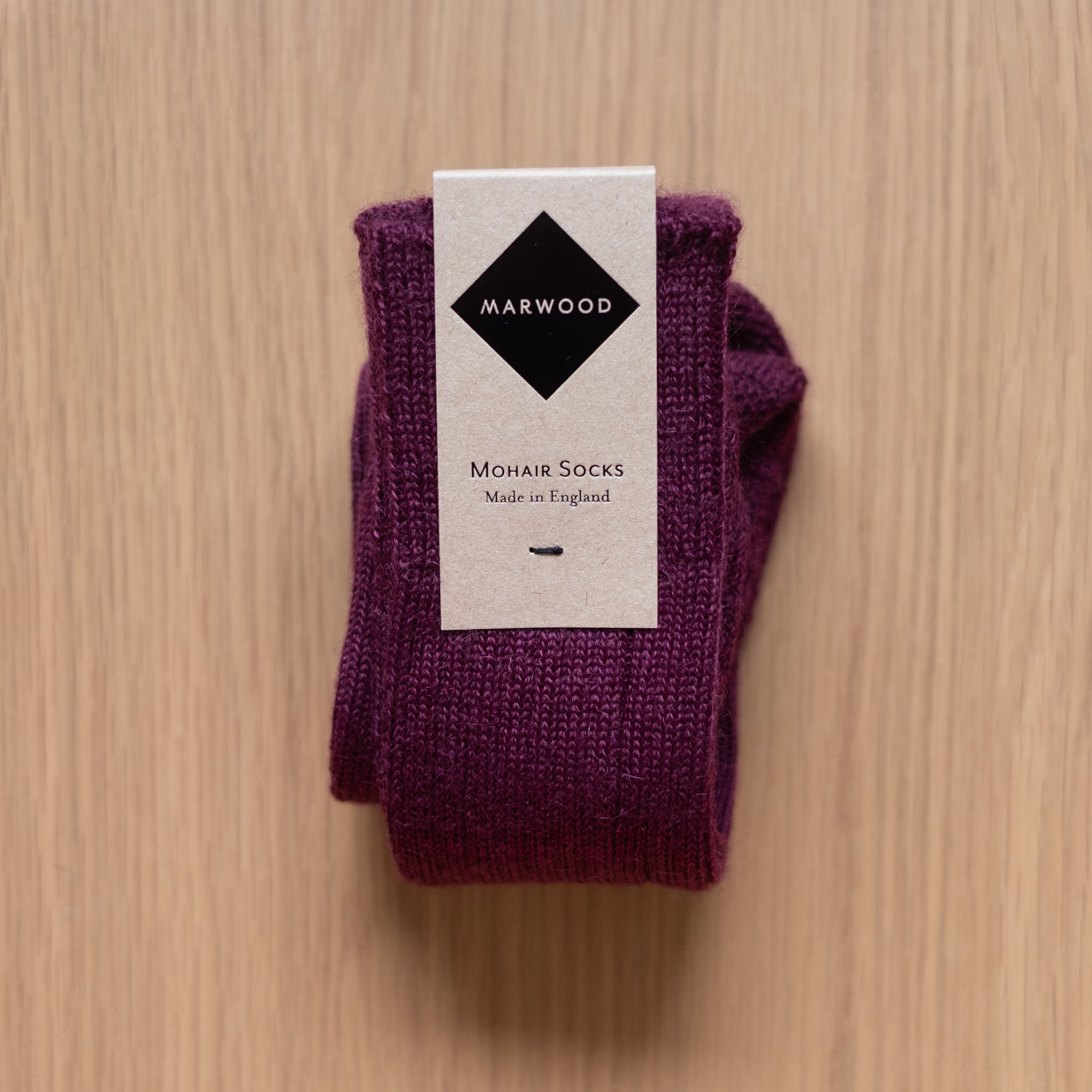 Bordeaux Heavy Knit Mohair Socks