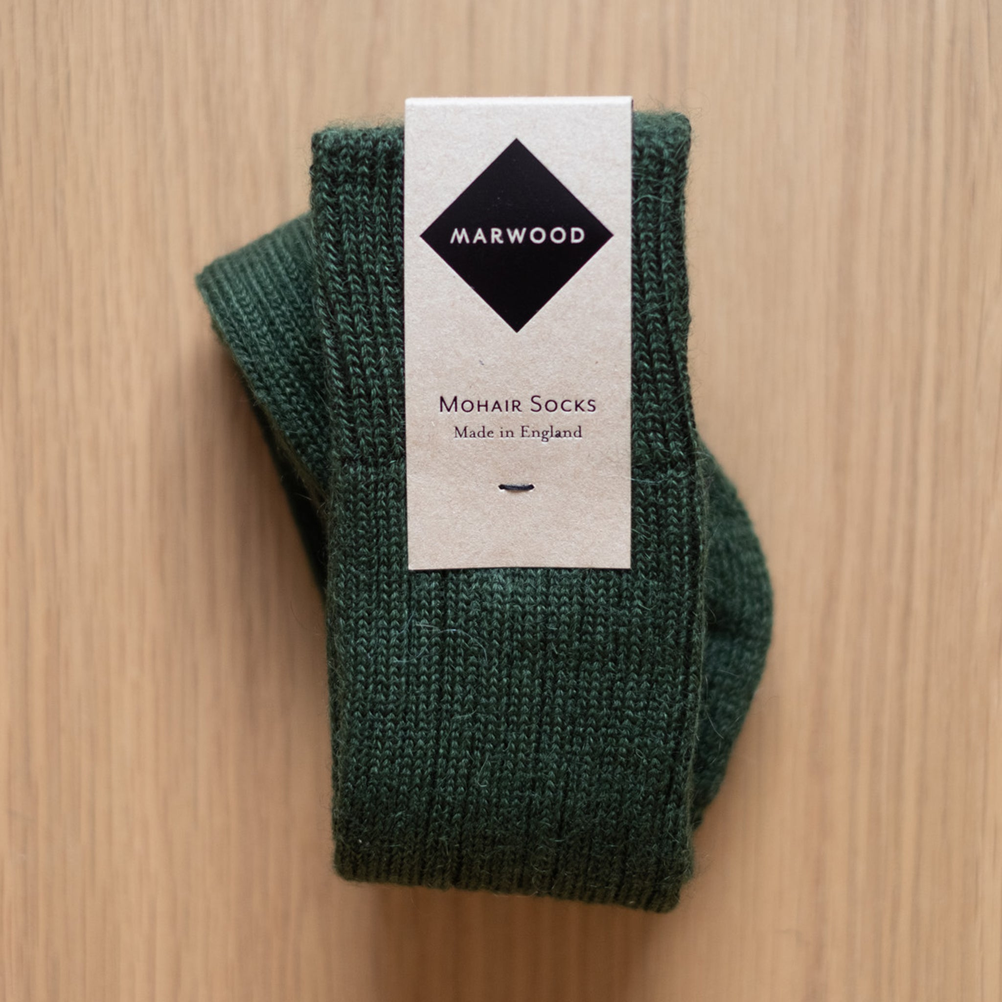 Forest Green Heavy Knit Mohair Socks