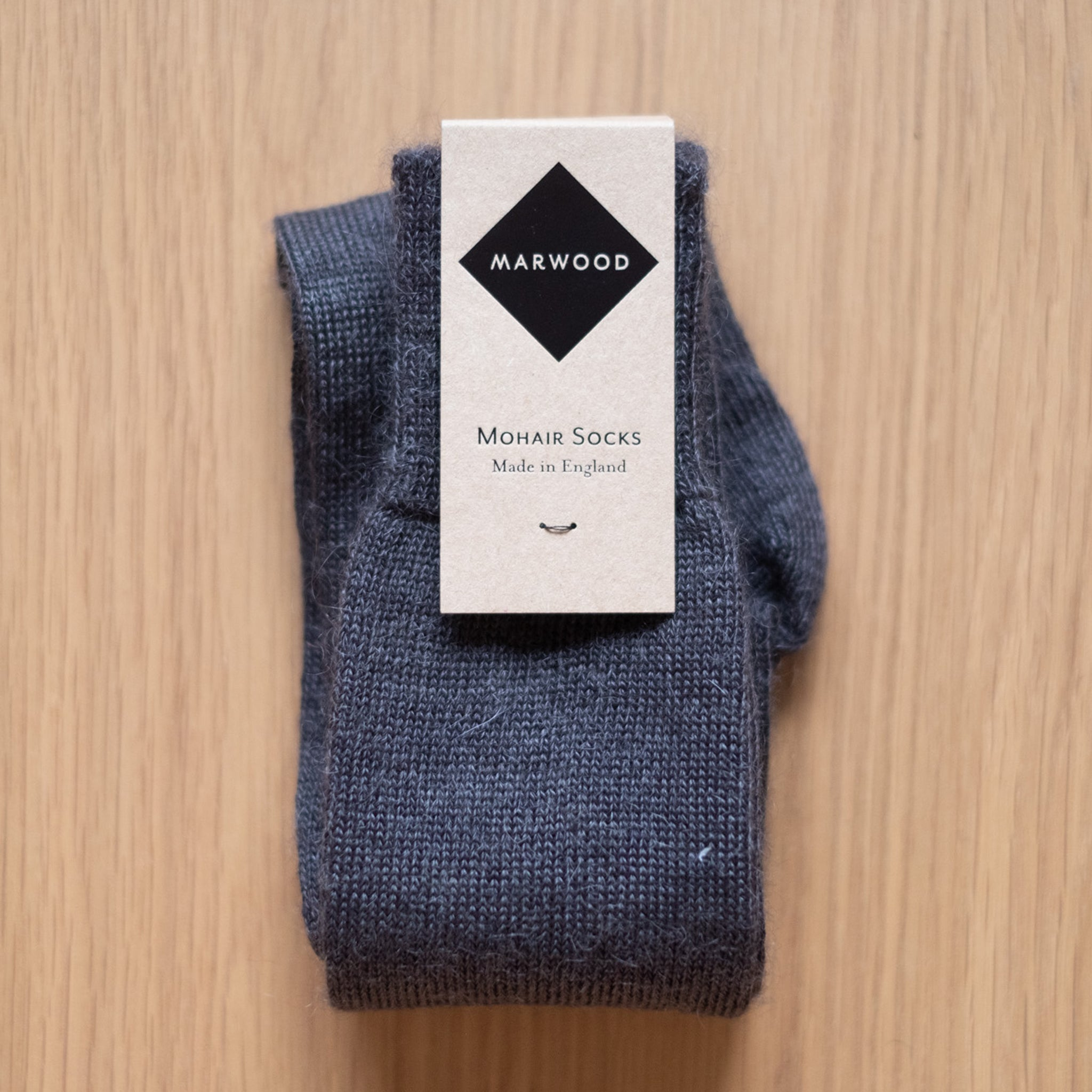 Charcoal Plain Knit Mohair Socks