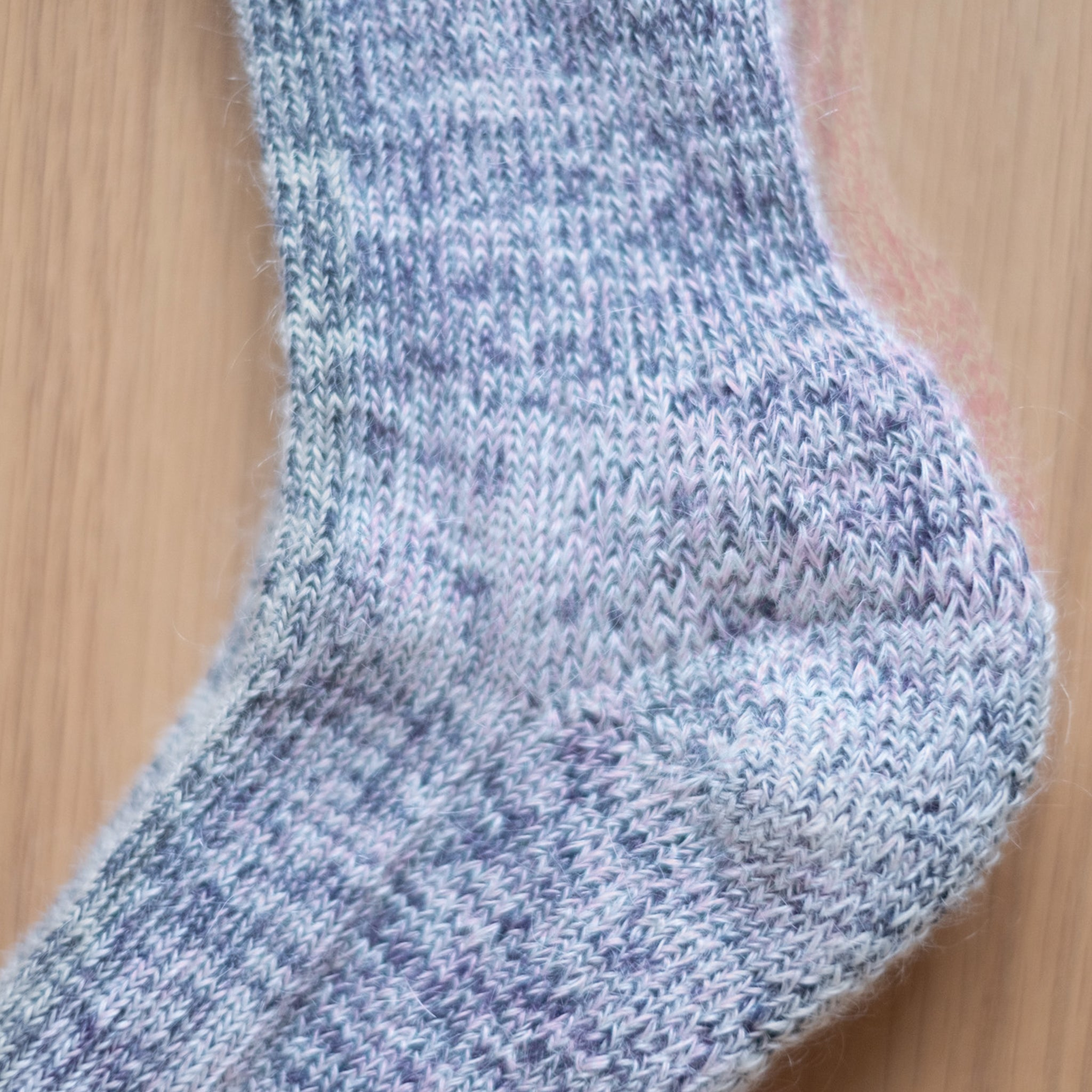 Grey Marl Heavy Knit Mohair Socks