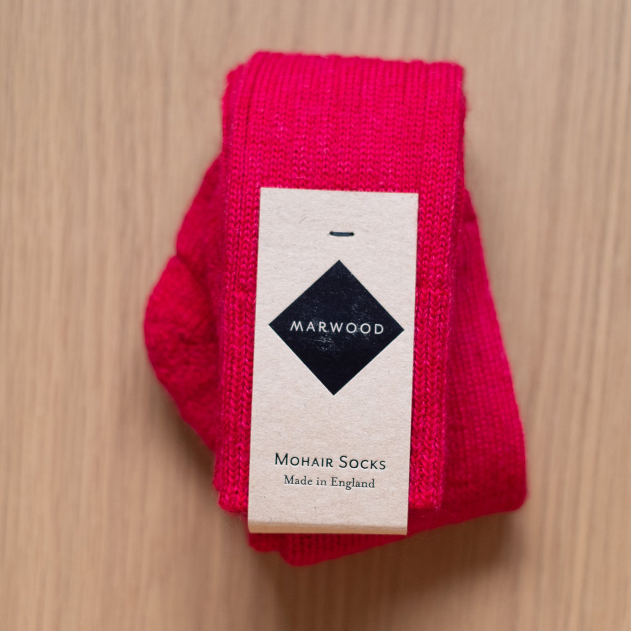 Festive Red Heavy Knit Mohair Socks