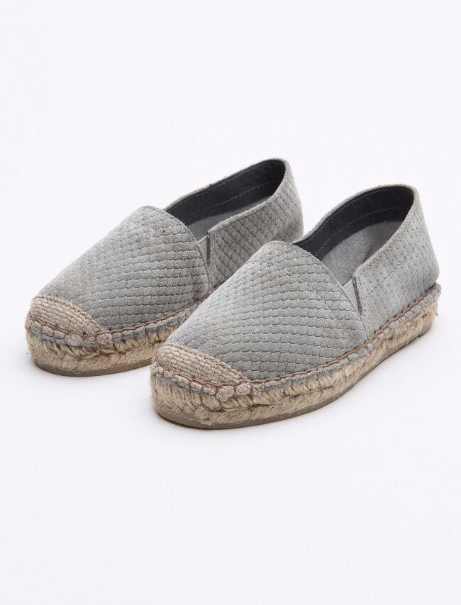 Rainbow and Snow Espadrille Grey