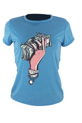RoasoCasual Round Neck Cartoon Printed  T-shirt