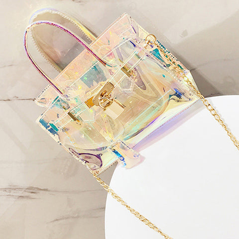 Roaso Fashion See-through PU Crossbody Bag