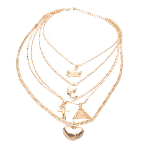 Roaso Trendy Gold Alloy Necklace