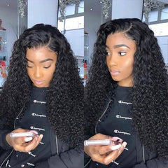 Roaso Chic Curly Black Wigs