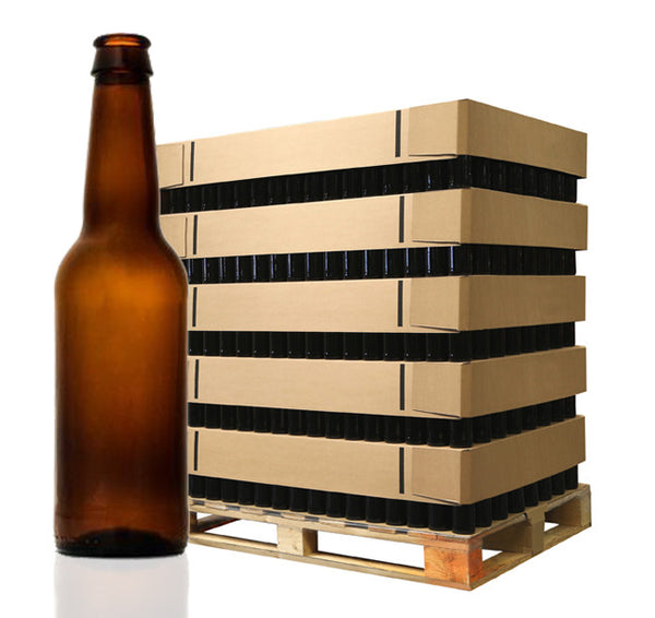 330ml Beer Bottle Amber Pallet Wholesale