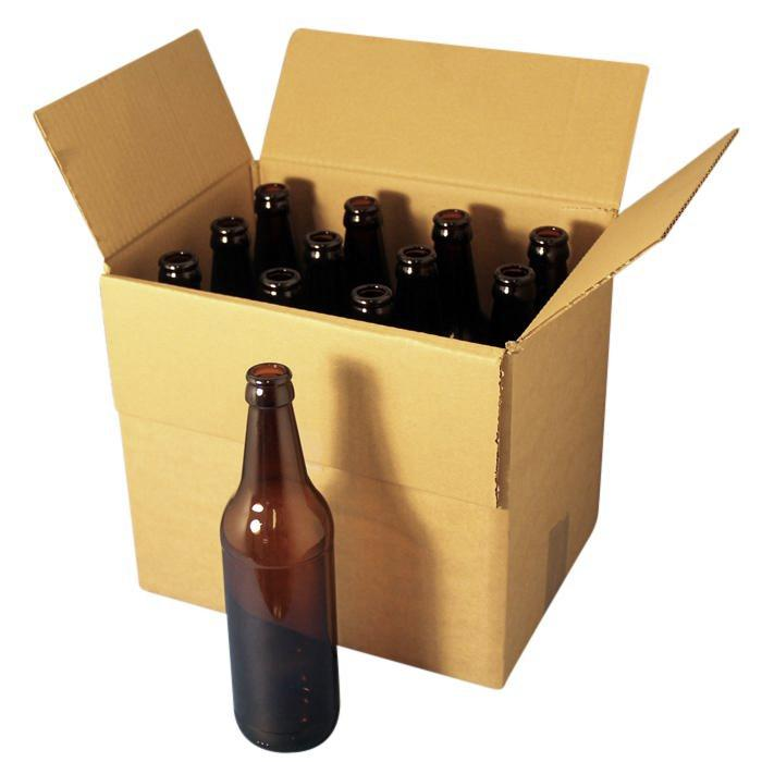 Storage and self delivery box - 12 x 500ml standard bottles