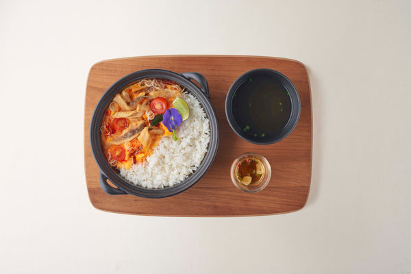 Rice with Fried Dried Fish with Tom-Yam Sauce