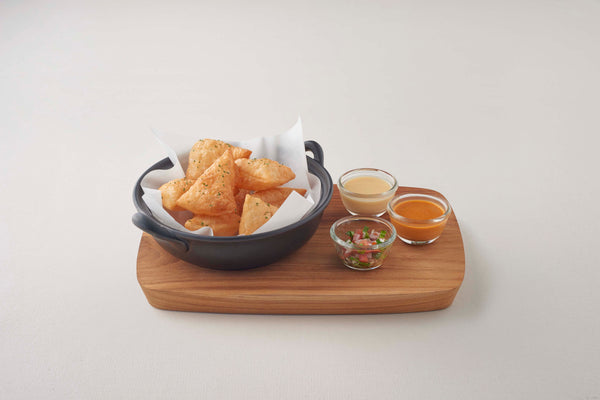 Crispy Roti with Dipping Sauces