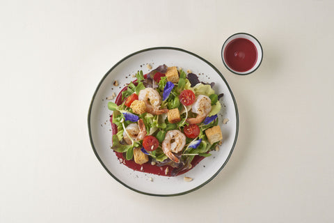 Busaba Garden Salad With Homemade Beetroot Dressing