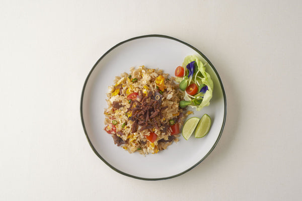 Fried Rice With Herb and Dried Beef ( Spicy )