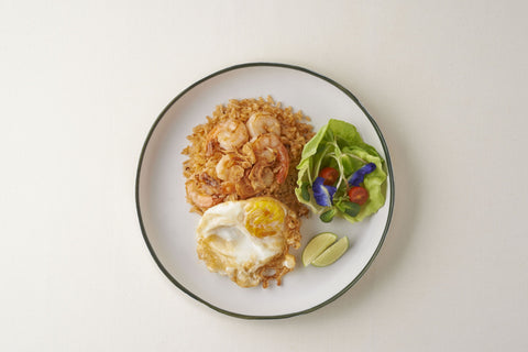 Fried Rice With Shrimp Paste Cream + Fried Egg ( Spicy )