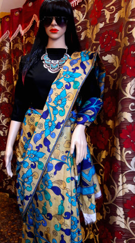 11A. A-Printed raw silk saree 05