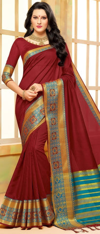 11A. B-Cotton saree BHB 89922