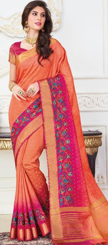 11A. A-Raw silk saree USN 235