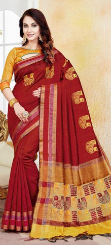 11A. A-Raw silk saree HSK 1212
