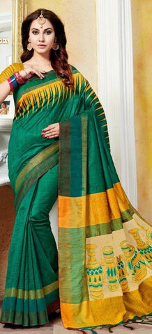 11A. A-Raw silk saree HSK 1216