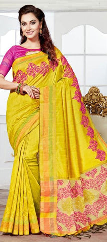 11A. A-Raw silk saree HSK 1217