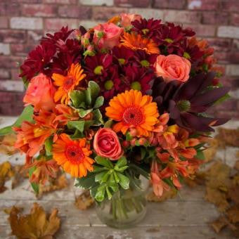 Berri - Autumn Gold and Red Bouquet.