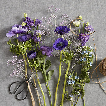 Fairfax - Florist Choice Blue/Mauve Flowers Bouquet
