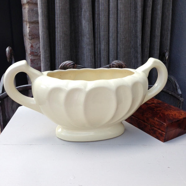 Dee Cee - Stoneware Buttery Cream - Vintage Mantle Vase SOLD