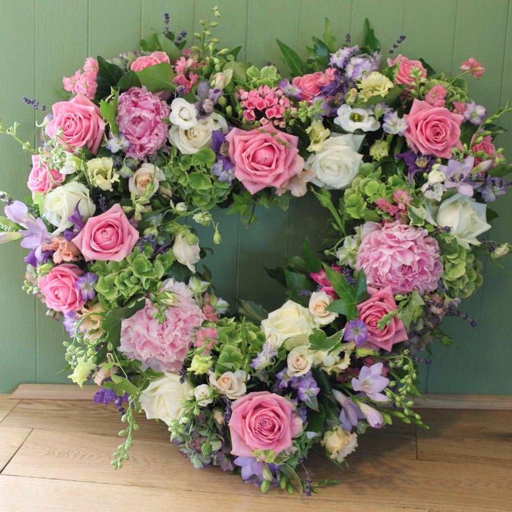 Cottage Garden Open Heart Funeral Tribute