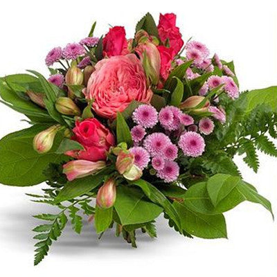 Amor -  Cerise and Pink Rose Bouquet