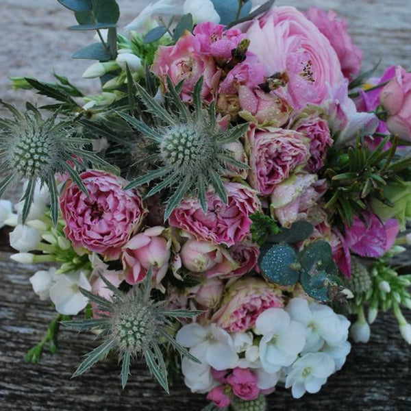 Luxury Vintage Pink Rose Bouquet