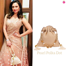 Load image into Gallery viewer, Pearl Polka Dot Potli