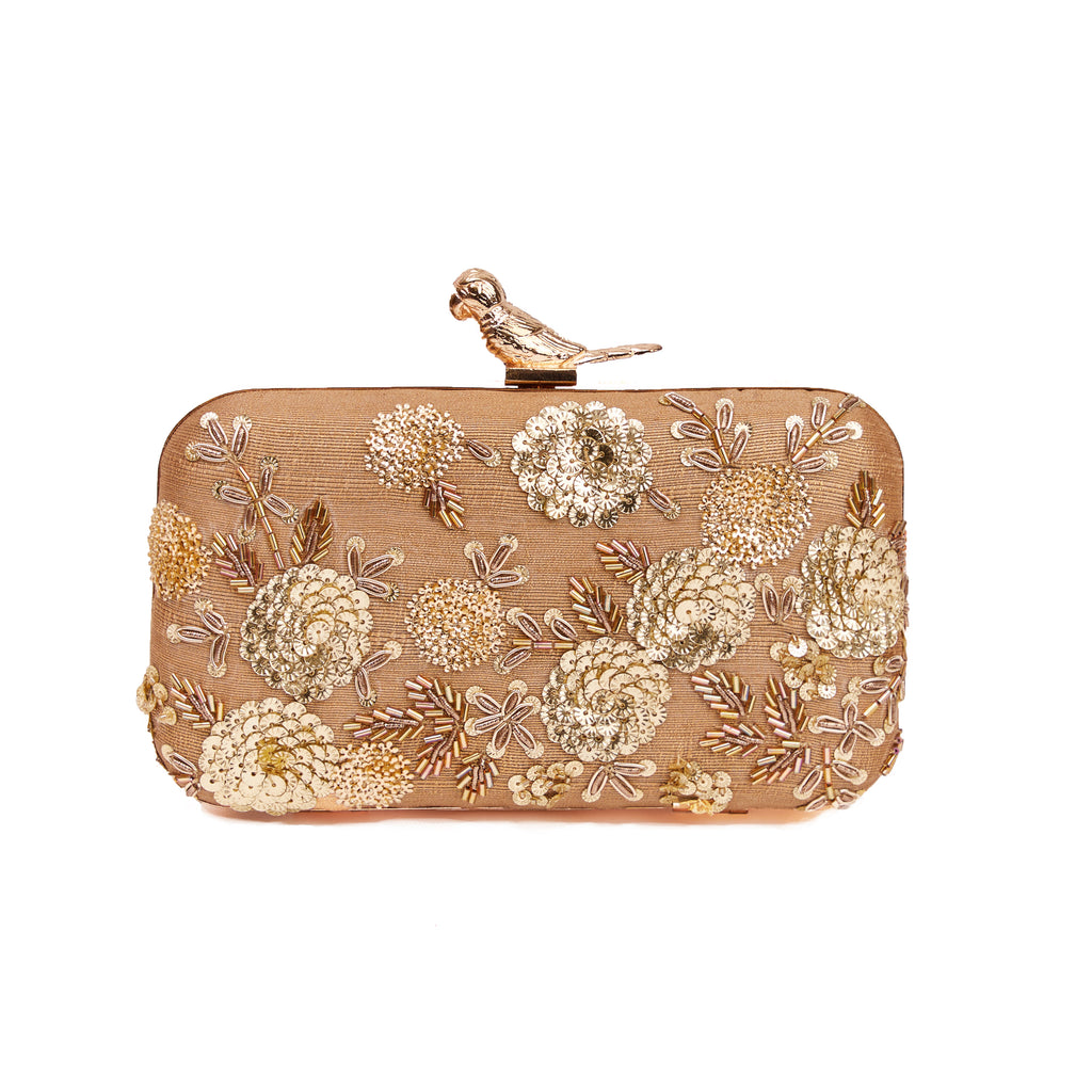 Dancing Daffodils Box Clutch