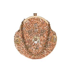 Pixie Dust Vintage Clutch Caramel