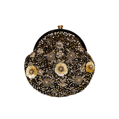 Pixie Dust Vintage Clutch Black