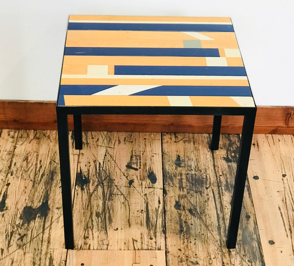 "20"" x 20"" Gym Floor End Table"