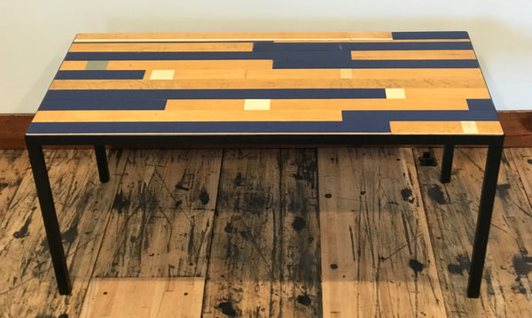 "20"" x 40"" Gym Floor Coffee Table"
