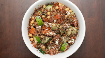 Quinoa Goat Cheese Salad | Kissed by the Sun