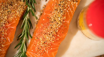 Lemon, Lime, & Orange Peel Dijon Baked Salmon | Kissed by the Sun Spices