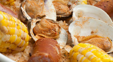 Corn, Clam, & Kielbasa Cajun Medley | Kissed by the Sun