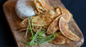 Garlic Goat Cheese With Yuca Chips | Kissed by the Sun