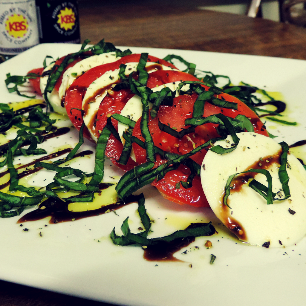 classic caprese salad with low sodium seasonings