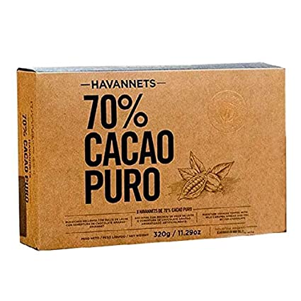 HAVANNETS – Chocolate 70% Cacao PURO x 8