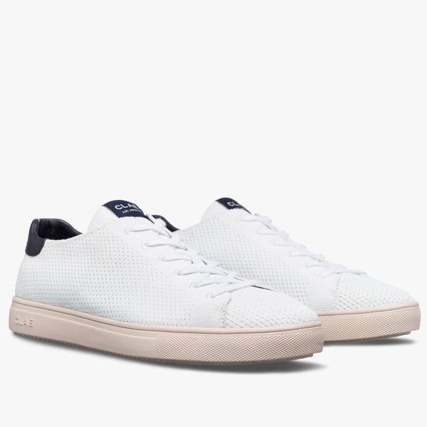Clae Bradley Knit Recycled - White/Navy - Born Store